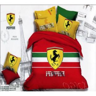 Постельное белье Ferrari красное с желтым
