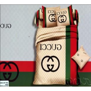 Постельное белье с брендами - Gucci светло-коричневый