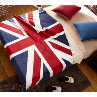 Плед с английским флагом