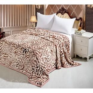 Плед Леопард с имитацией рисунка шкуры