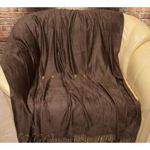 Плед из бамбукового волокна шоколадного цвета