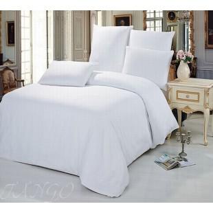 Белое постельное белье однотонное - премиум твил