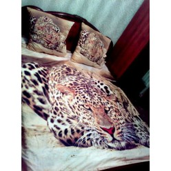 """3d постельное белье с кошкой """"Гепард"""""""