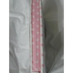 Горошки бело-розовые - поплин