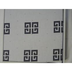 Постельное белье с логотипом Givenchi белое с цветом мокрого асфальта