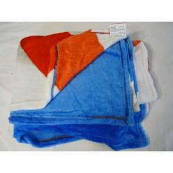 Плед с Капитаном Америка - синий  с белыми и красными полосками